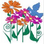 Flowers n bird